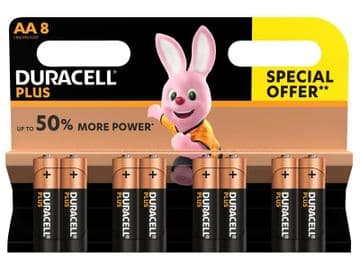 AA Cell Plus Power LR6/HP7 Batteries (Pack 8)